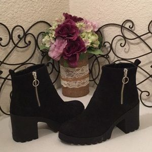 BP Suede Leather Ankle Boots